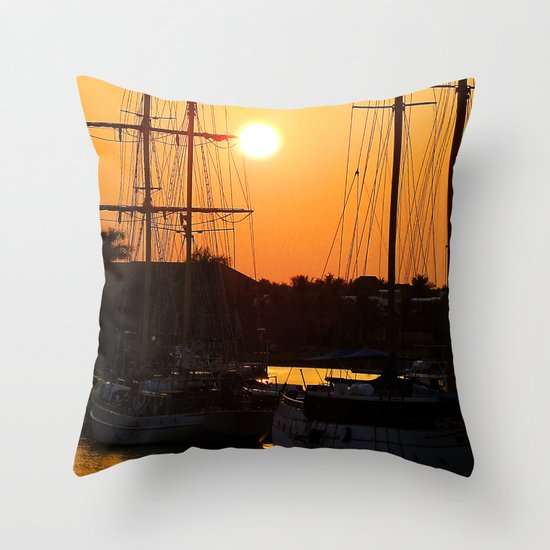 Nadi Harbour, Fiji Throw Pillow