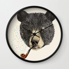 BLACK BEAR SAILOR Wall Clock