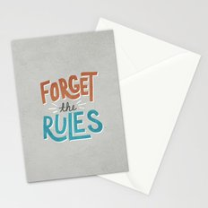 Forget the Rules Stationery Cards