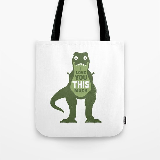 Amourosaurus Tote Bag