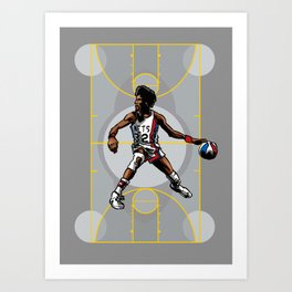DR. J: On the Offensive Art Print