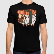 Puglie Salmon Sushi LARGE Mens Fitted Tee Black