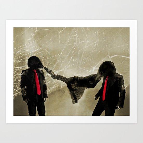 Mr. Glitch: An Enemy is You Art Print
