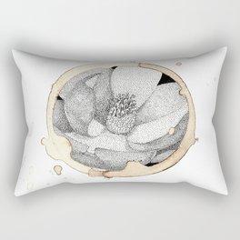 Coffee Stain Magnolia Flower-Louisiana Series Rectangular Pillow