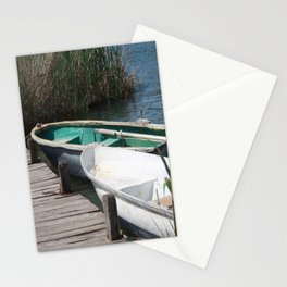Reeds, Rowing Boats and Old Jetty at Dalyan Stationery Cards