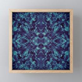Wavy Lines Through an Alien Bugs Eyes Framed Mini Art Print