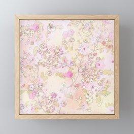 Pink lovely flower mix Framed Mini Art Print