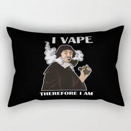I Vape Therefore I Am | Vaping Rene Descartes Rectangular Pillow