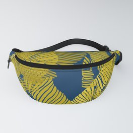 Carved Yellow&Blue Jungle #society6 #decor #buyart Fanny Pack