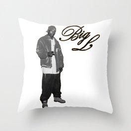 Big L //Black&White Throw Pillow
