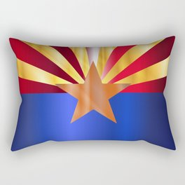 Metal Arizona State Flag Rectangular Pillow