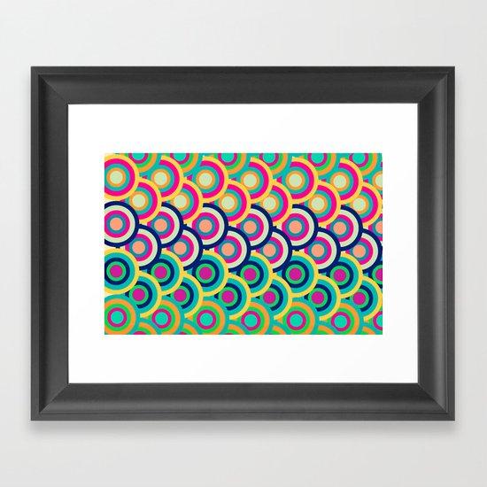 Circle colors Framed Art Print