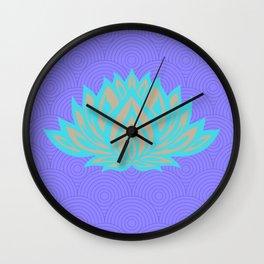 Lotus blue /mint Meditation Through Pillow Wall Clock