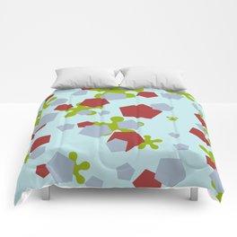 Geometric Mix Rectangle blue Comforters