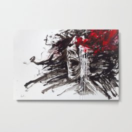 The Pain of Cluster Headache Metal Print