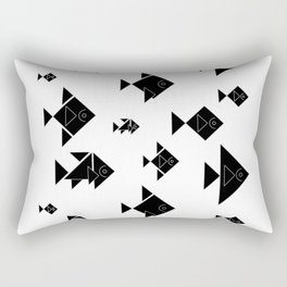 Shadow School Rectangular Pillow