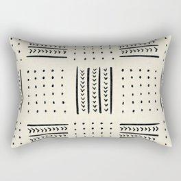 Mud Cloth in Cream Rectangular Pillow