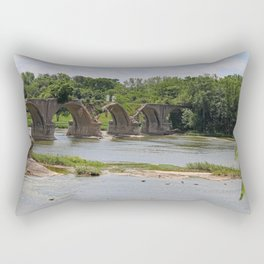 Trestle Over the Maumee II Rectangular Pillow