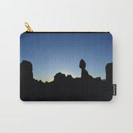 Balance Rock Silhouette  Carry-All Pouch