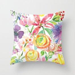 Bold Florals Throw Pillow