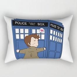A Doctor and his Tardis Rectangular Pillow