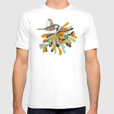 Bird's Nest Mens Fitted Tee White SMALL