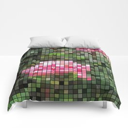 Pink Roses in Anzures 5  Mosaic Comforters