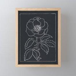 English Rose Framed Mini Art Print