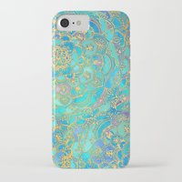 paint iPhone & iPod Cases featuring Sapphire & Jade Stained Glass Mandalas by micklyn