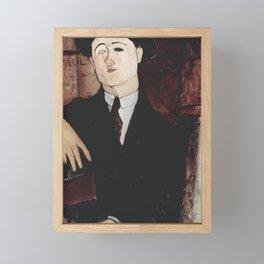 Paul Guillaume by Amedeo Modigliani Framed Mini Art Print