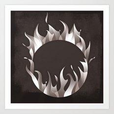 Burning Ring of Fire Art Print