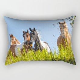 The Herd Greets Us Rectangular Pillow