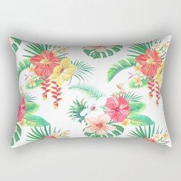 tropical watercolor floral pattern Rectangular Pillow