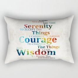 Colorful Serenity Prayer by Sharon Cummings Rectangular Pillow