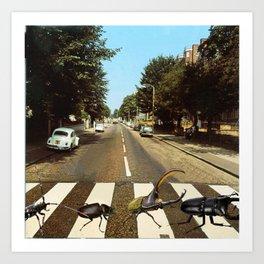 The Beetles - Digital Collage Art Print