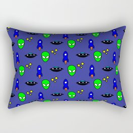 Space Oddity in Blue Rectangular Pillow