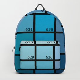 Shades of Blue Pantone Backpack