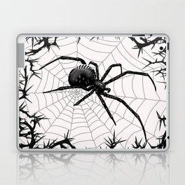 Briar Web- Black and White Laptop & iPad Skin