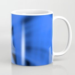 A flowing pattern of smooth blue lines on the fibers of the veil with bright luminous transitions. Coffee Mug