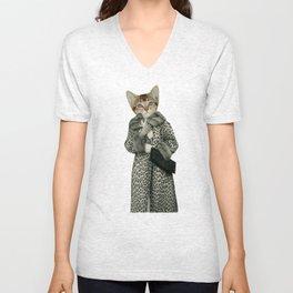 Kitten Dressed as Cat Unisex V-Neck
