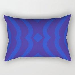 Bluesy Twist Rectangular Pillow