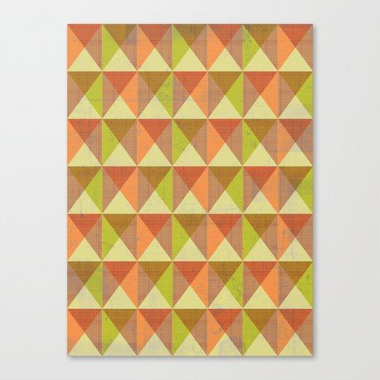 Triangle Diamond Grid Canvas Print