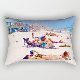 Shores of South Beach Rectangular Pillow