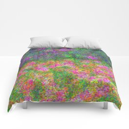 Meadow Pattern With Flowers Comforters