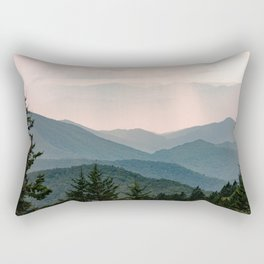 Smoky Mountain Pastel Sunset Rectangular Pillow