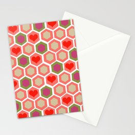 Heart Pattern 1 Stationery Cards