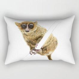 Mouse Lemur Perched on a Branch Rectangular Pillow