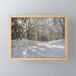 Covered in White Framed Mini Art Print