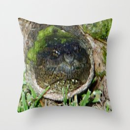 Common Female Snapper Turtle  Throw Pillow