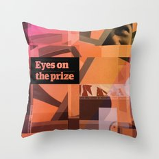 Eyes On The Prize Throw Pillow